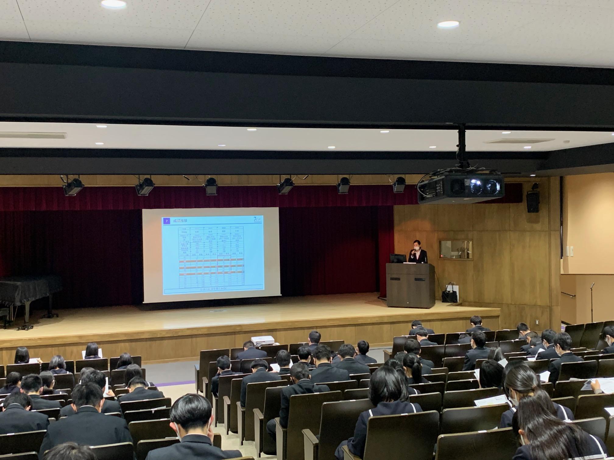 ベネッセによる模試報告・研修会が行われました。