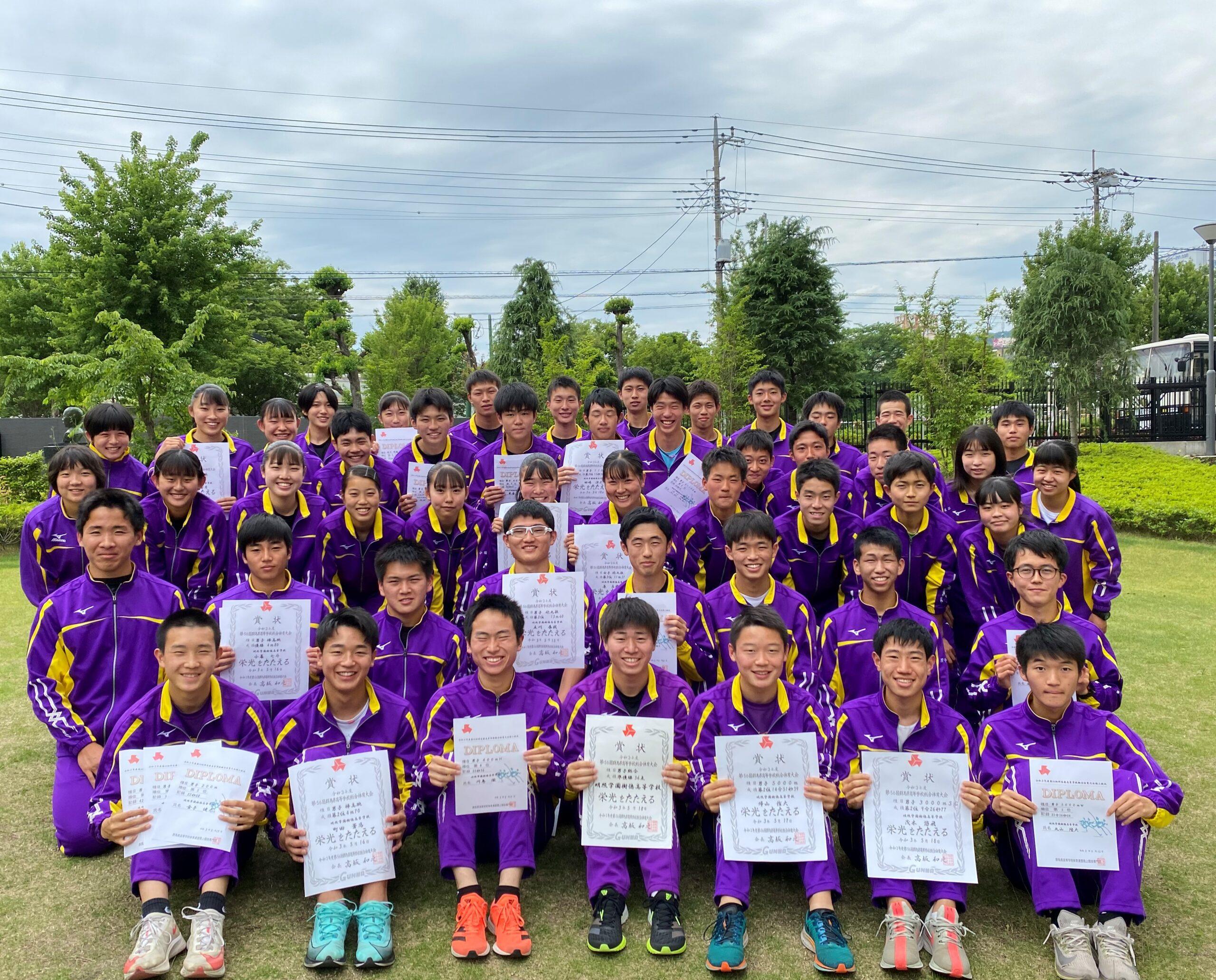 陸上部 高校総体 男子総合第2位 関東大会出場者22名