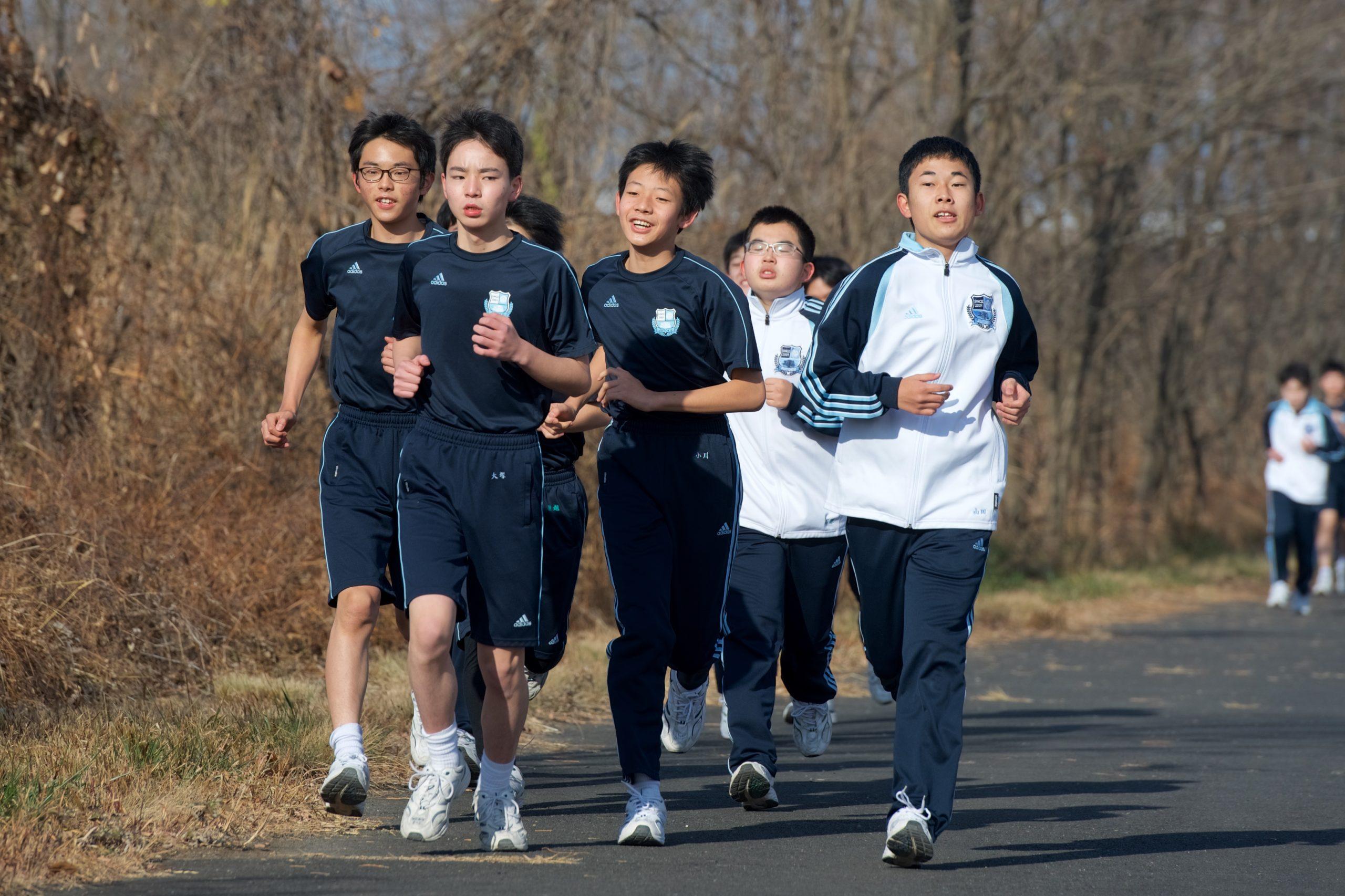 校内マラソン大会の様子について